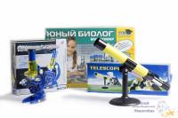 Наборы для юных физиков и биологов-микроскоп и телескоп